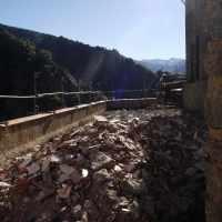Septembre 2015 : dégagement d'une terrasse pour refaire l'étanchéité